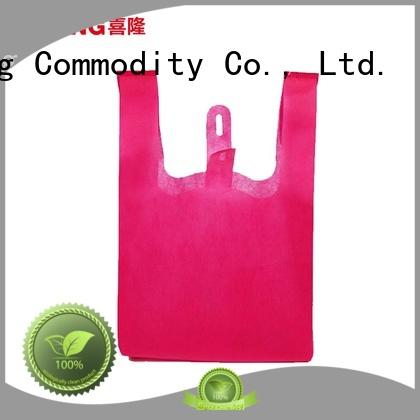 colorful cool shopping bags packing for students Xilong