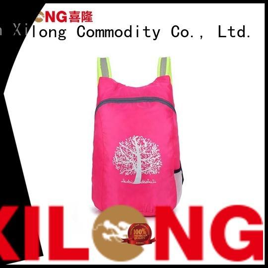 Xilong waterproof foldaway backpack reasonable price for girls