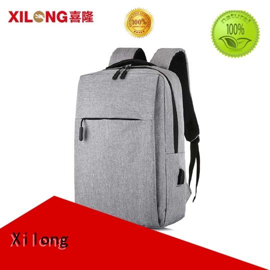 Xilong logo women's computer backpack usb charger for travel