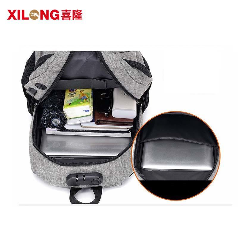 Anti-theft USB charging business stylish laptop backpack waterproof