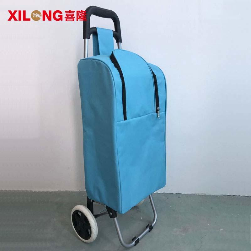 Portable new design cool bag trolley with folding wheel
