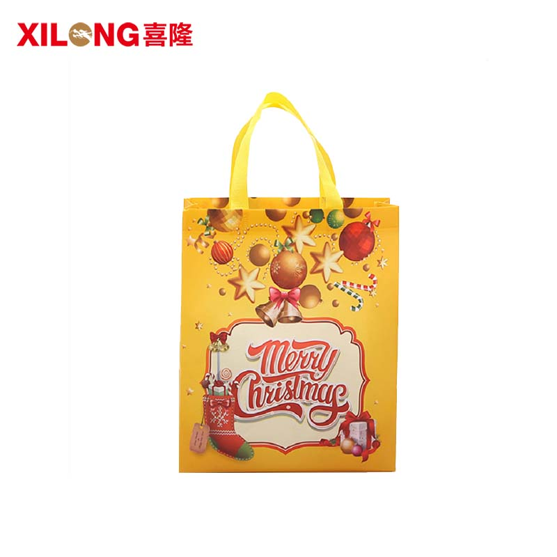 Christmas gift packing non woven laminated custom shopping bags-1