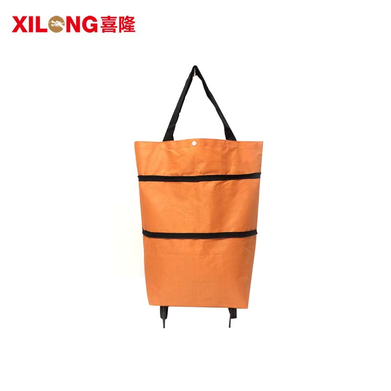 OEM/ODM  Polyester Foldable Shopping Cart Trolley Bags-1