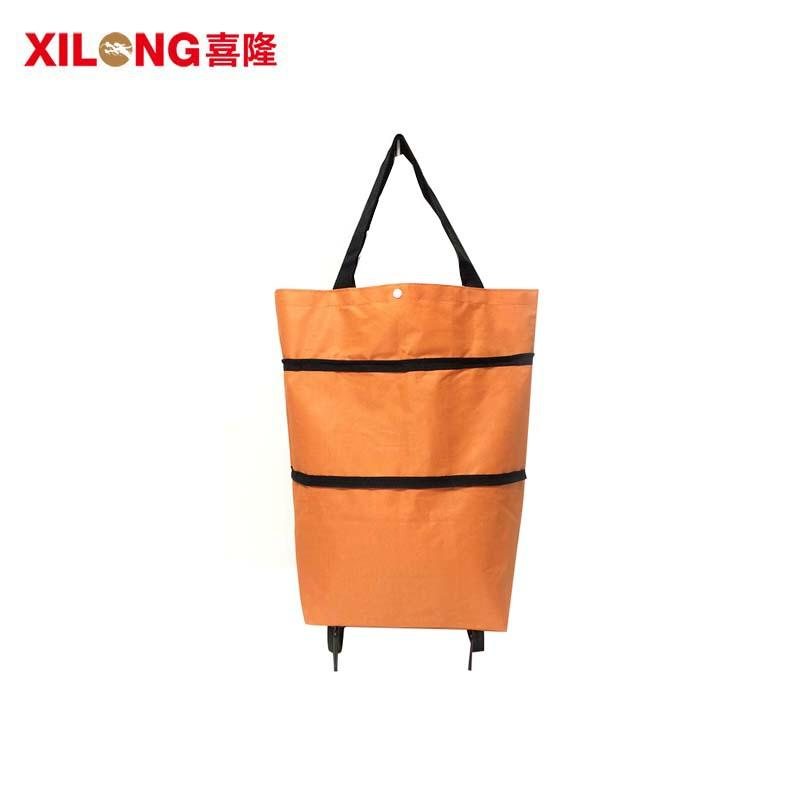 Xilong bag fold away shopping trolley with wheels market for travel