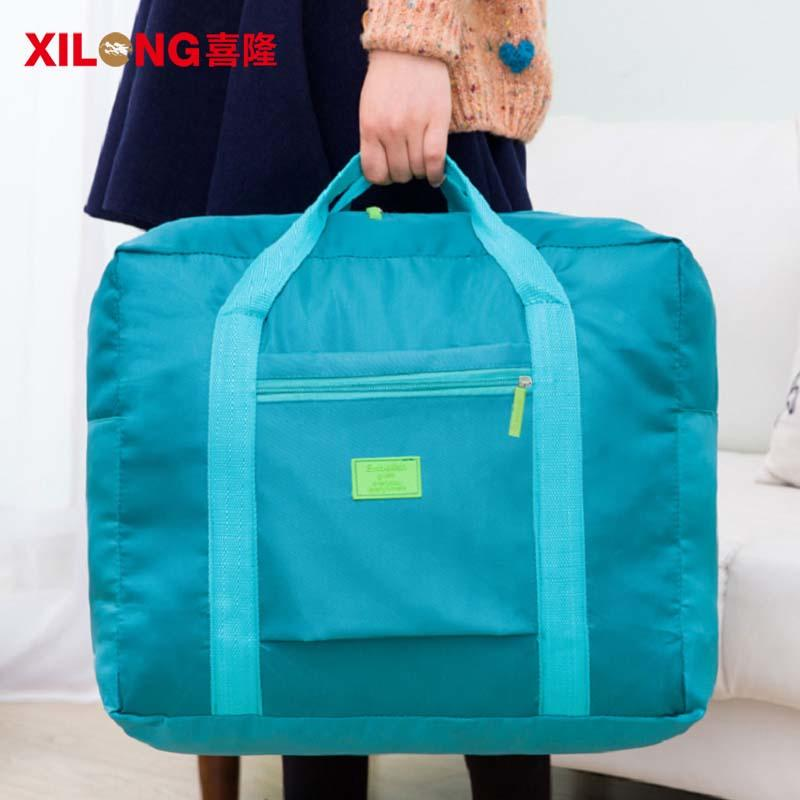 Sport casual foldable travel duffel bag with custom logo