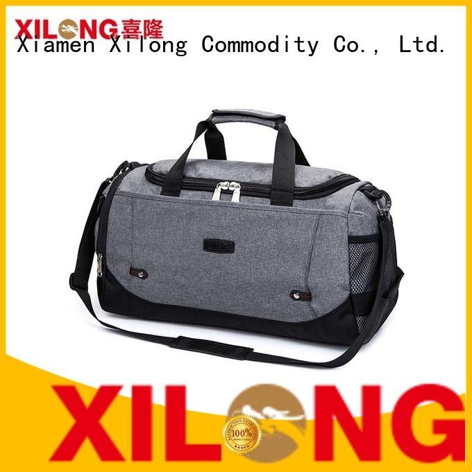 Xilong black custom team duffle bags factory for travel