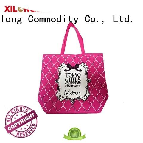 Xilong colorful reusable shopping totes for hiking
