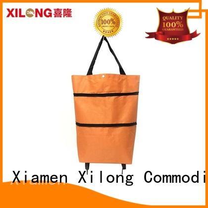 folding small shopping trolley on wheels laminated Xilong