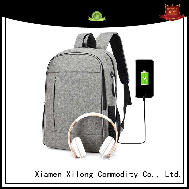 Xilong fashion women's computer backpack usb charger for computer