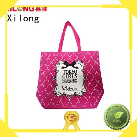 Xilong eco best shopping bags logo for travel