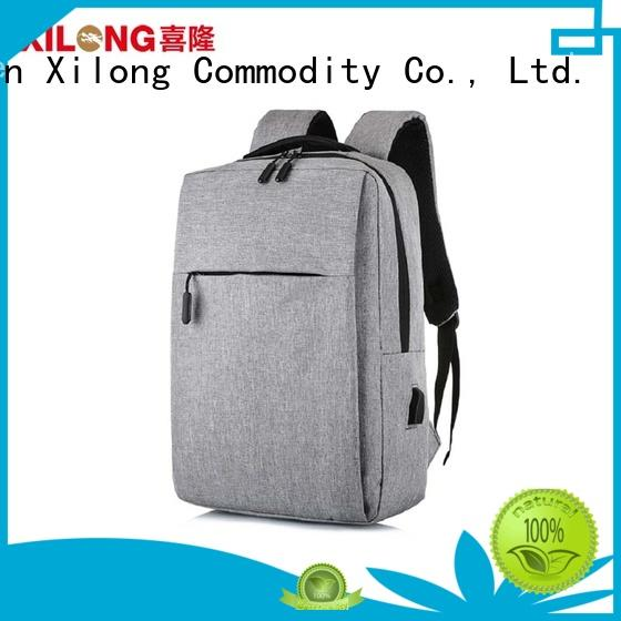 Xilong durable small laptop backpack port for business trip