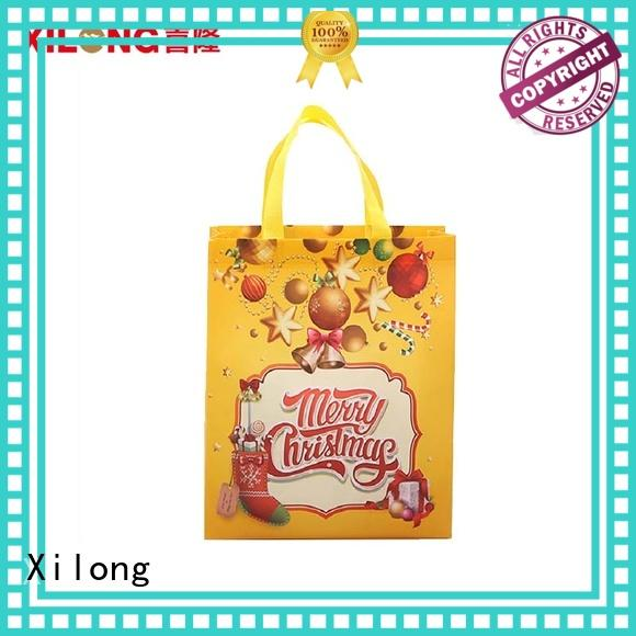 Christmas reusable tote shopping bags heat for trip