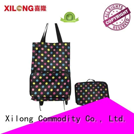 Xilong wheels portable shopping trolley for wholesale for ladies