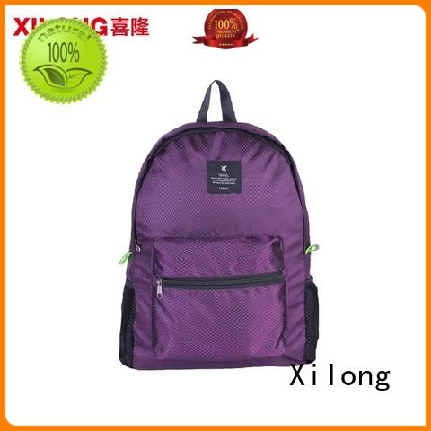 Xilong travelling foldable waterproof backpack best quality