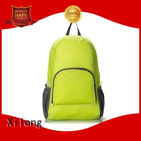 smart best foldable backpack open for travel Xilong