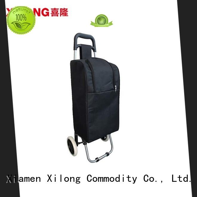 Xilong cool picnic trolley cooler bag wheel for travel