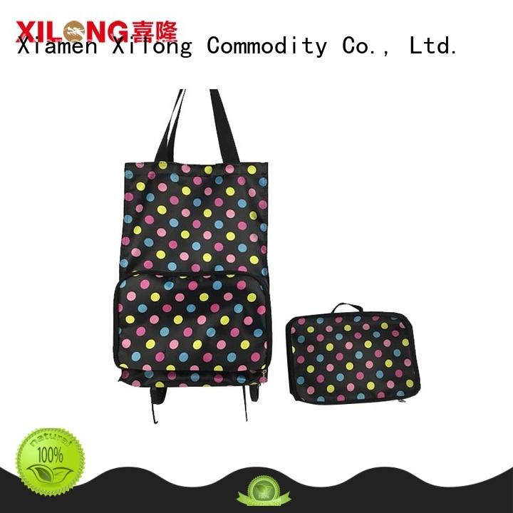 Xilong foldable shopping trolley bag on wheels customization for women