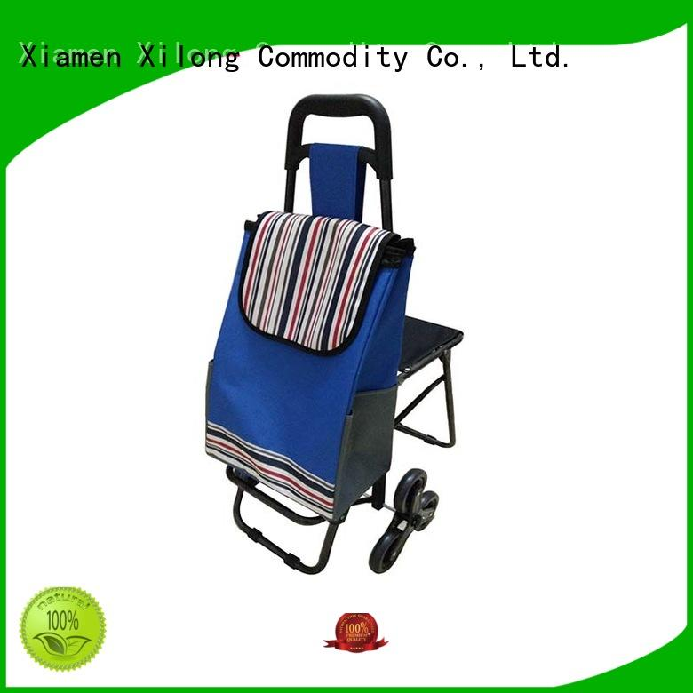 Xilong odm shopping bag on wheels customization for travel