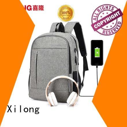 Xilong anti-theft custom logo laptop backpack port for business trip