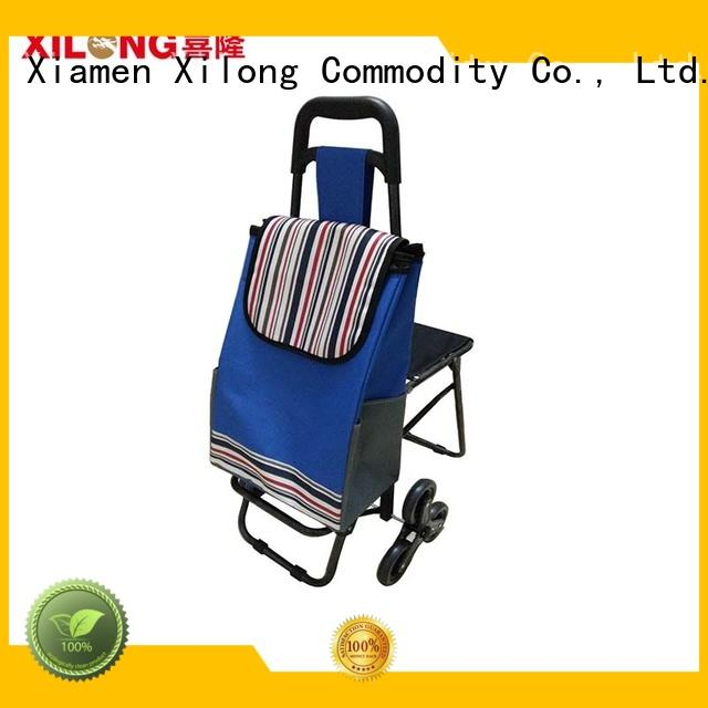 Xilong folding shopping bag on wheels customization for travel