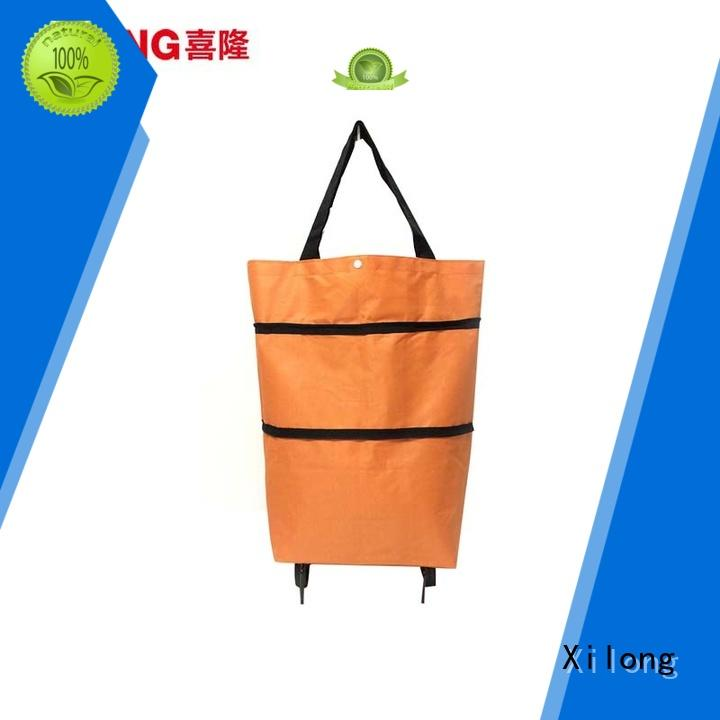 sale foldable shopping trolley with wheels laminated for girls Xilong