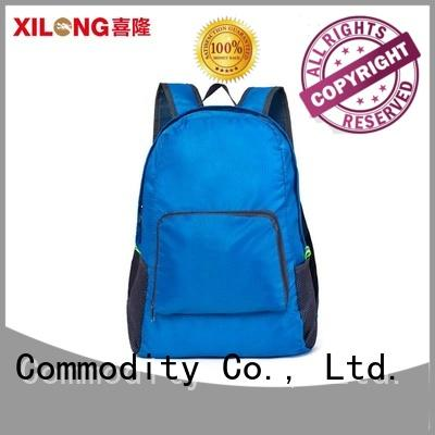 Xilong customer fold up backpack travel best quality for boys