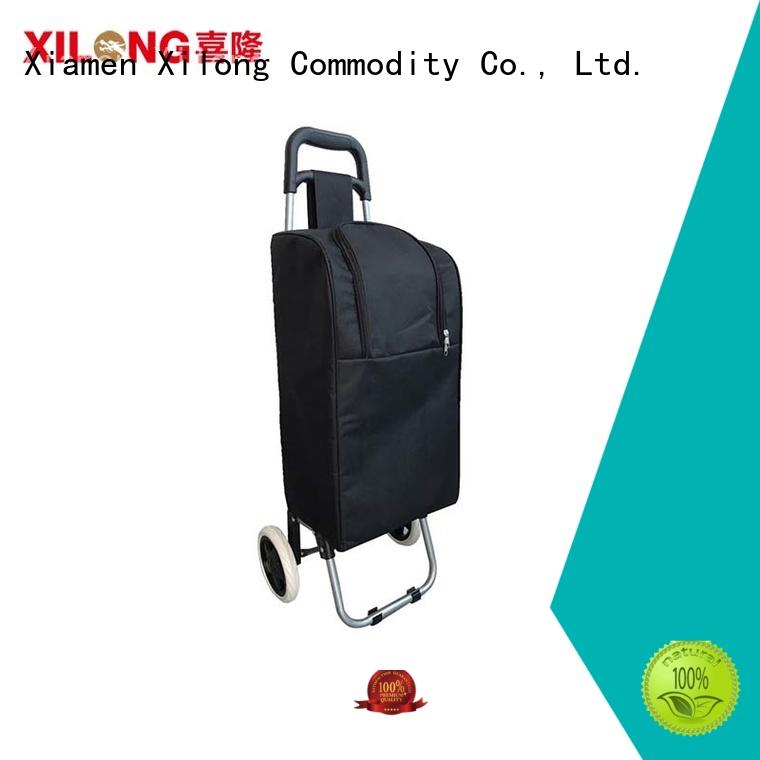 folding personalized insulated cooler bags wheel for shopping