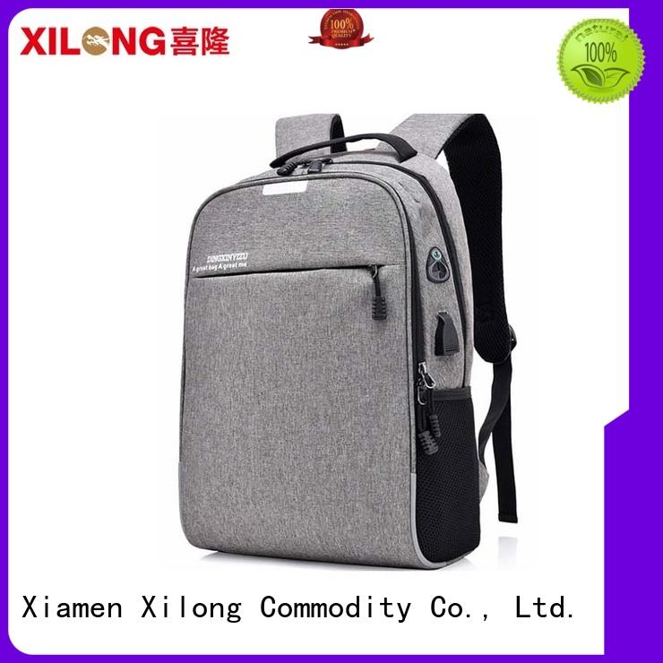 light notebook backpack charging for business trip Xilong