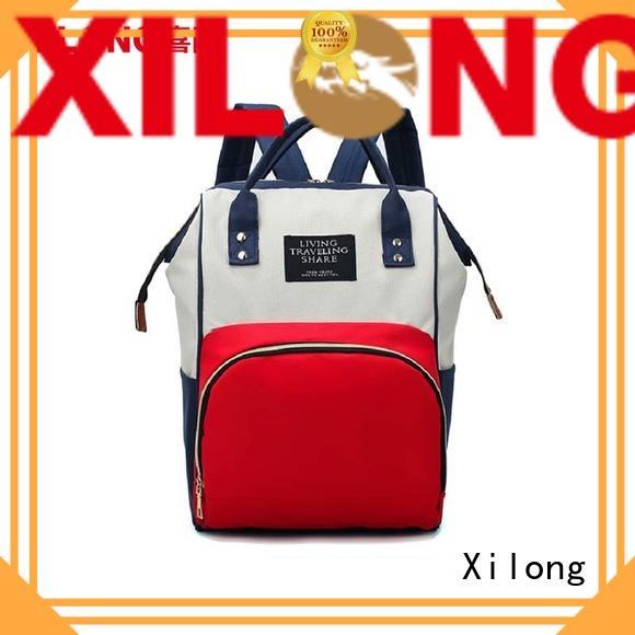 Xilong custom baby boy backpack diaper bag backpack for students