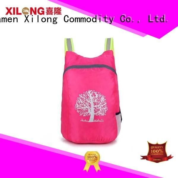 Xilong lightweight small folding backpack best quality duffle