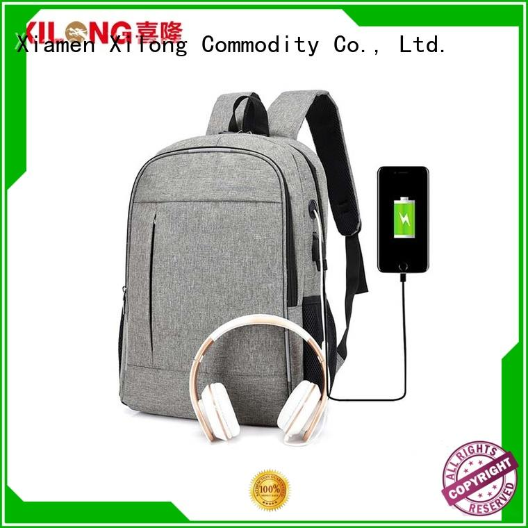 business personalized laptop backpack charger for business trip Xilong