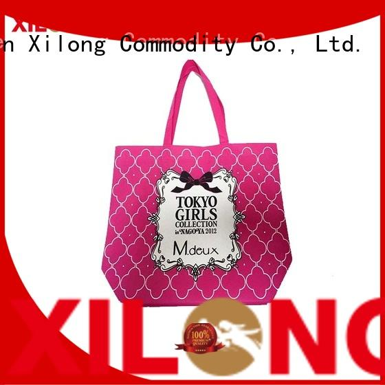 Xilong colorful reusable shopping tote bags wholesale now for trip