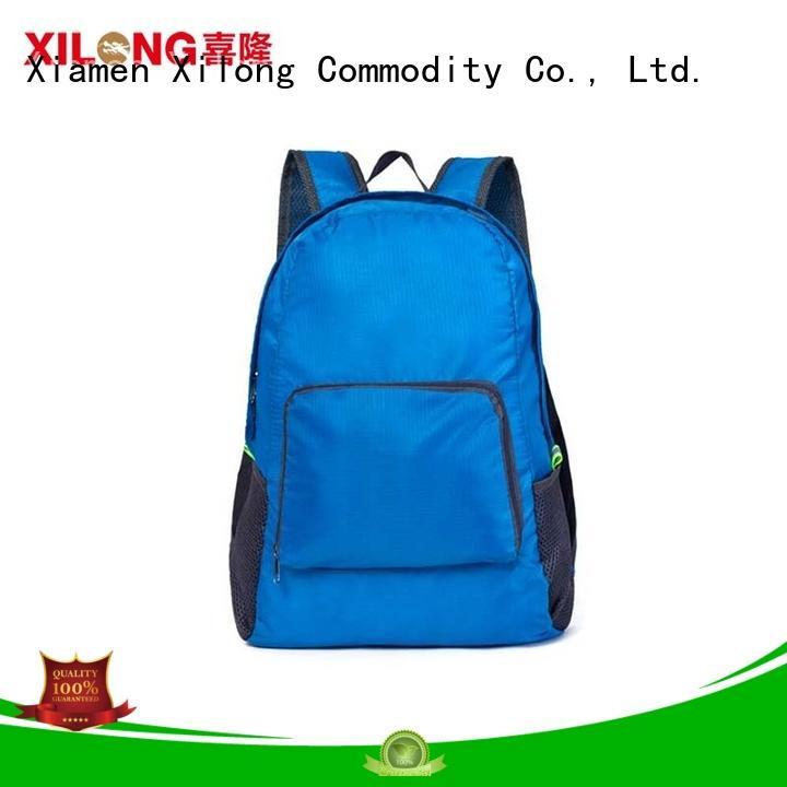 Xilong foldable backpack waterproof factory