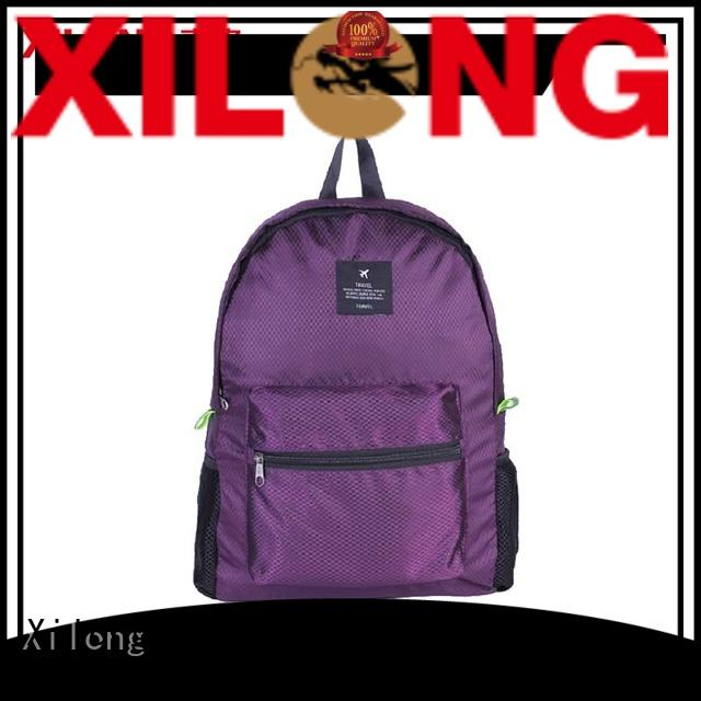 Xilong bag foldable back pack reasonable price for trip