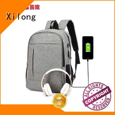 Xilong logo backpack laptop bag fashion for travel