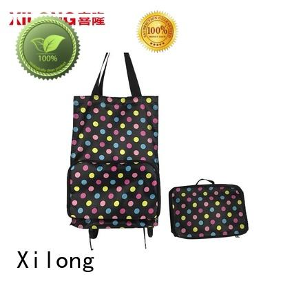 Xilong foldable custom made shopping bags for wholesale for ladies