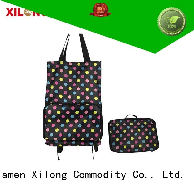 Xilong foldable cheap shopping trolley laminated for travel