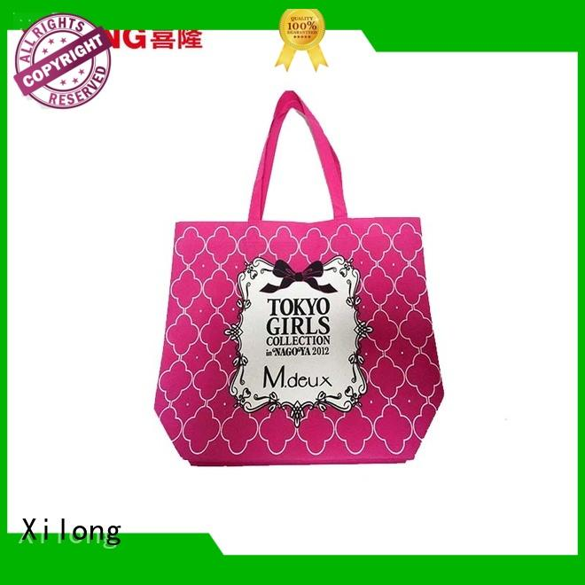 Xilong non woven customized shopping bags for business factory price for travel