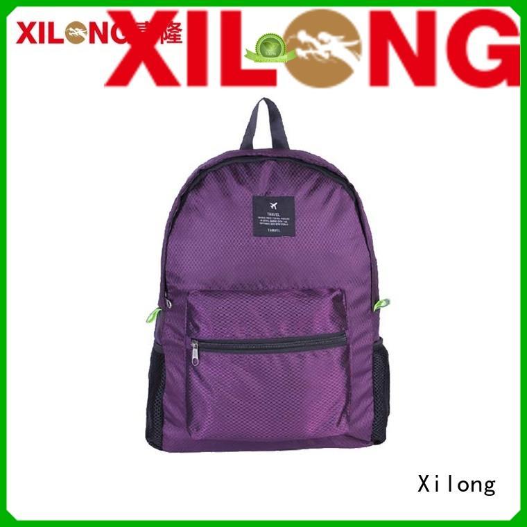Xilong small folding rucksack backpack customer for girls