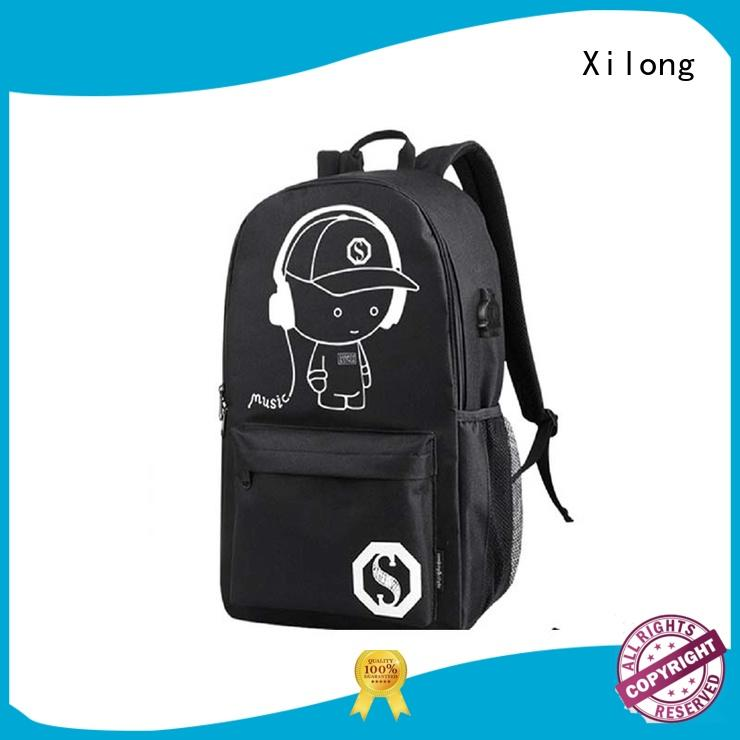 Xilong school childrens personalized backpacks for wholesale for high school