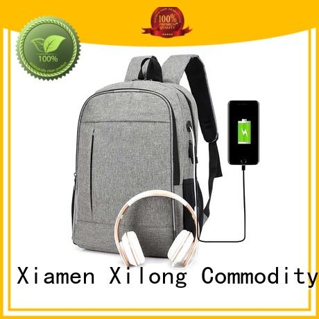 High-quality custom logo laptop backpack for business