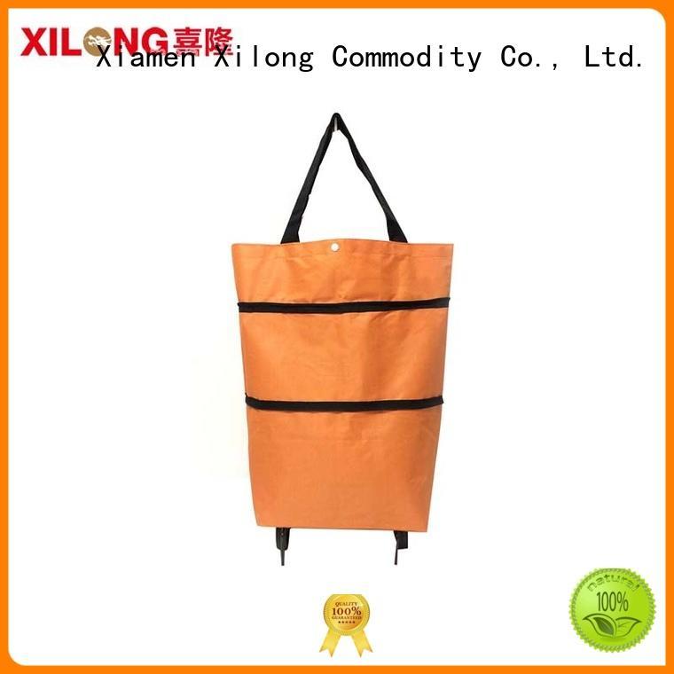 Xilong on-sale folding shopping trolley bag customization for women
