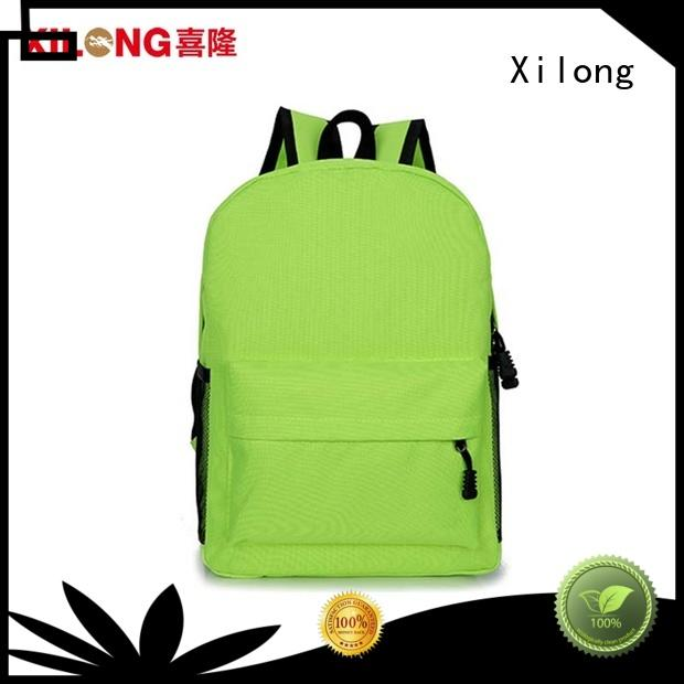 Xilong custom school backpack supplies favorable price for kids