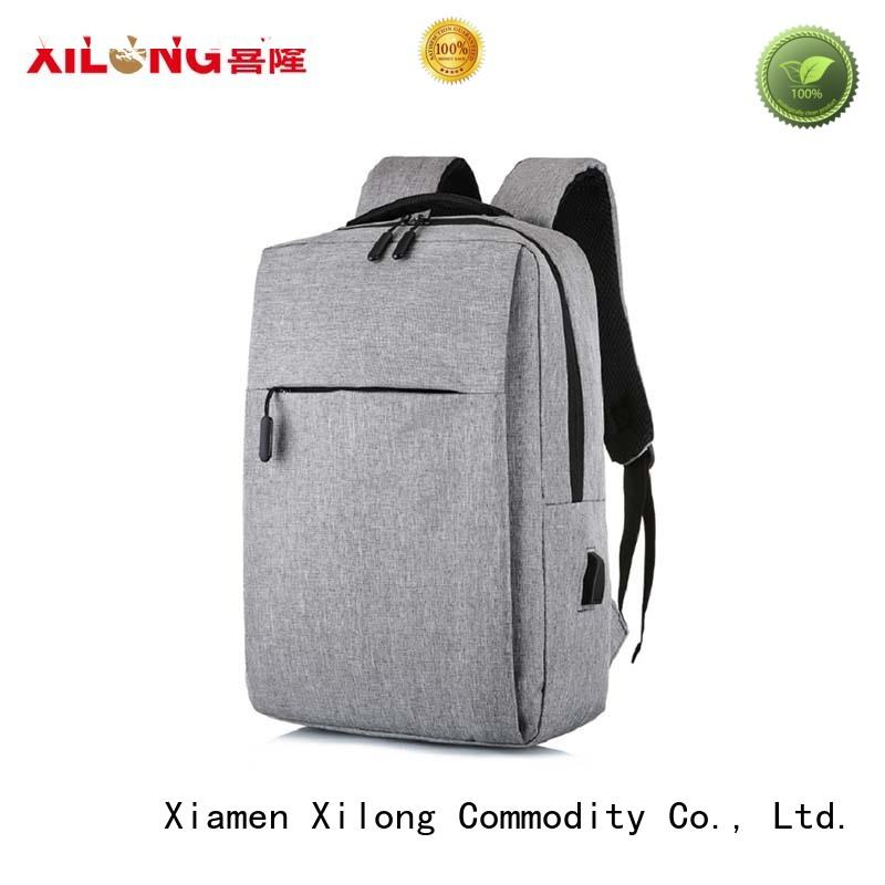 Xilong charging stylish laptop backpacks port for business trip