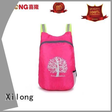 customer fold up nylon backpack fold Xilong