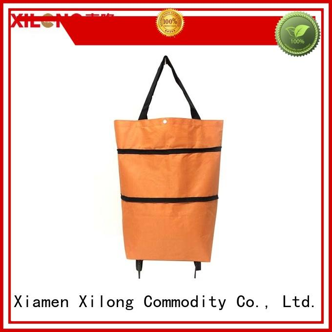 Xilong folding trendy shopping trolley laminated for women