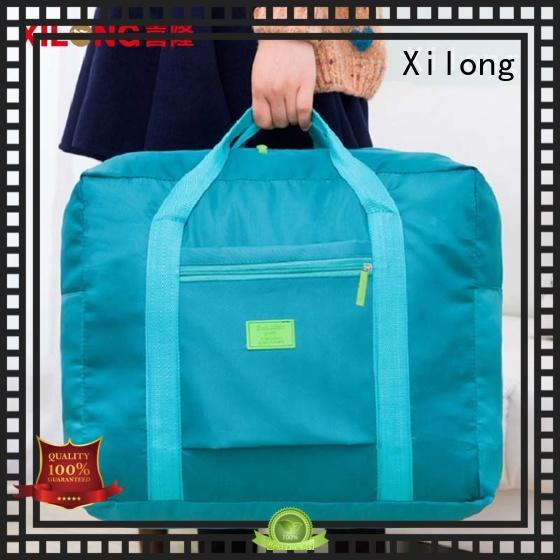 Xilong logo custom duffel bag factory for travel