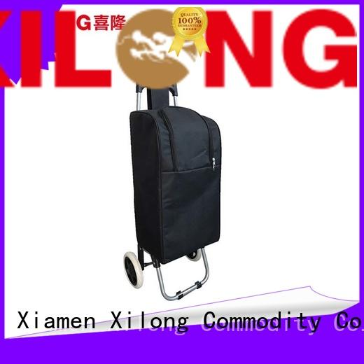 Xilong folding custom rolling coolers with seat for travel