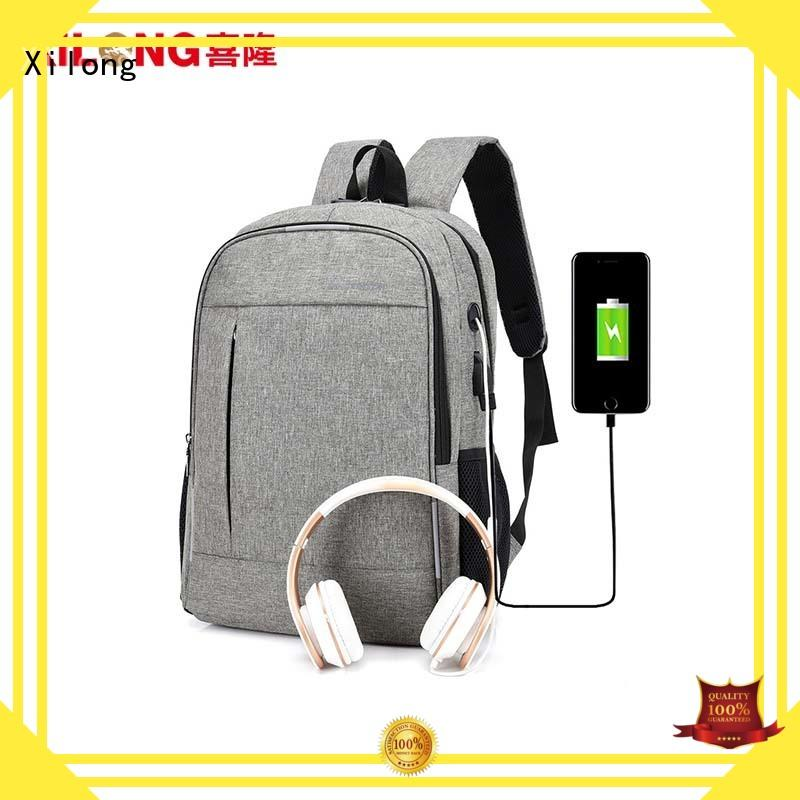 Xilong waterproof custom logo laptop backpack fashion for computer