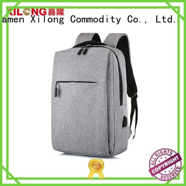 Xilong waterproof custom logo laptop bag usb charger for business trip